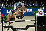 Kevin Staut of France riding Quismy des Vaux HDC competes at the Longines Speed Challenge during the Longines Hong Kong Masters 2015 at the AsiaWorld Expo on 13 February 2015 in Hong Kong, China. Photo by Juan Flor / Power Sport Images