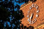 Sept. 15, 2015; O'Shaughnessy Hall clock (Photo by Matt Cashore/University of Notre Dame)