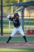 AZL White Sox Jose Rodriguez (5) at bat during an Arizona League game against the AZL Royals at Camelback Ranch on June 19, 2019 in Glendale, Arizona. AZL White Sox defeated AZL Royals 4-2. (Zachary Lucy/Four Seam Images)