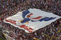Santa Clara, CA - Friday June 3, 2016: The American Outlaws section reveals a TIFO display before the game. USA played Colombia in the opening match of the Copa América Centenario game at Levi's Stadium.