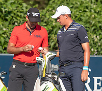 Charl Schwartzel (RSA) and Christiaan Bezuidenhout (RSA) during the 1st round of the Alfred Dunhill Championship, Leopard Creek Golf Club, Malelane, South Africa. 28/11/2019<br /> Picture: Golffile | Shannon Naidoo<br /> <br /> <br /> All photo usage must carry mandatory copyright credit (© Golffile | Shannon Naidoo)
