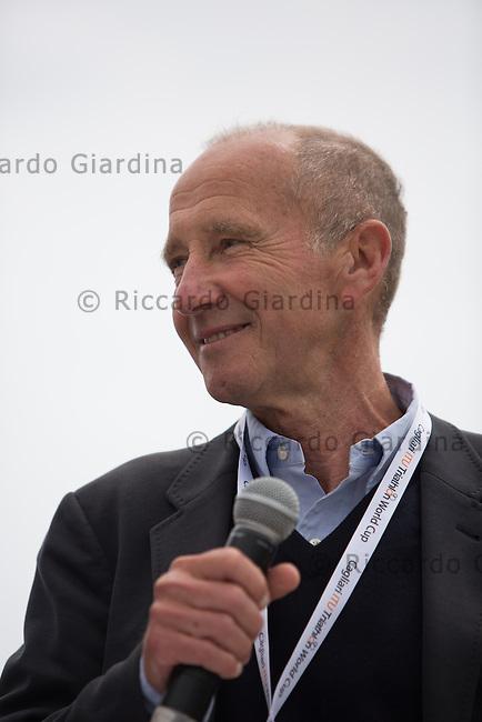 08/05/2016 - Renato Bertrandi Presidente ETU, 2016 Cagliari ITU Triathlon World Cup