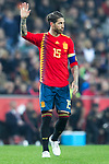 Spain's Sergio Ramos celebrates goal  during the qualifying match for Euro 2020 on 23th March, 2019 in Valencia, Spain. (ALTERPHOTOS/Alconada)