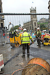 Roadworks at Shandwick Place and St John's Episcopal Church, Edinburgh. Photo copyright Graham Harrison.