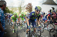 Alejandro Valverde (ESP/Movistar) up the Mur de Huy (max 17%)<br /> <br /> La Flèche Wallonne 2014