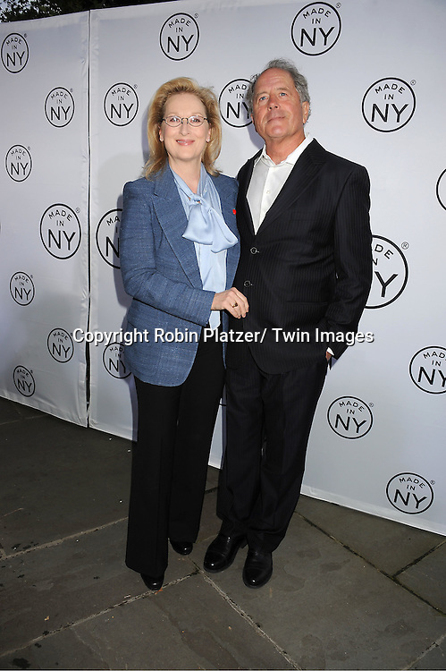 """Don Gummer and wife Meryl Streep attend the """"Made in NY""""  Awards at Gracie Mansion on June 4, 2012 in New York City."""