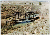 Bridge over Uncompahgre River just north of Ridgway.  Tracks have been removed.<br /> D&amp;RGW  Ouray Branch, CO