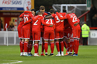 Crawley team huddle during Crawley Town vs Morecambe, Sky Bet EFL League 2 Football at Broadfield Stadium on 16th November 2019