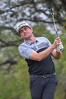 Keegan Bradley (USA) watches his tee shot on 2 during Round 3 of the Valero Texas Open, AT&amp;T Oaks Course, TPC San Antonio, San Antonio, Texas, USA. 4/21/2018.<br /> Picture: Golffile | Ken Murray<br /> <br /> <br /> All photo usage must carry mandatory copyright credit (&copy; Golffile | Ken Murray)