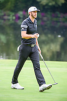 Dustin Johnson (USA) after sinking his par putt on 17 during round 3 of the World Golf Championships, Mexico, Club De Golf Chapultepec, Mexico City, Mexico. 3/4/2017.<br /> Picture: Golffile | Ken Murray<br /> <br /> <br /> All photo usage must carry mandatory copyright credit (&copy; Golffile | Ken Murray)