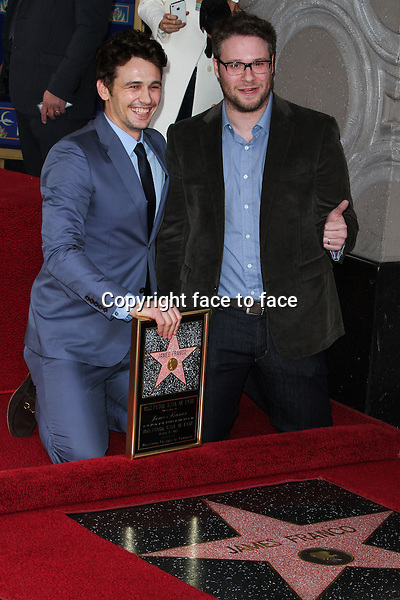 James Franco, Seth Rogen attending the ceremony honoring Franco with a Star on The Hollywood Walk of Fame on March 7, 2013 in Hollywood, California. ..Credit: MediaPunch/face to face..- Germany, Austria, Switzerland, Eastern Europe, Australia, UK, USA, Taiwan, Singapore, China, Malaysia and Thailand rights only -