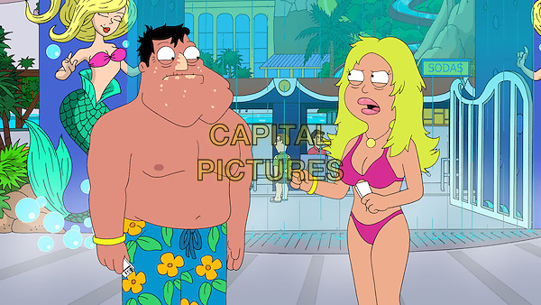 American Dad! (2005 - )<br /> (Season 7)<br /> Stan (Seth MacFarlane) and Francine (Wendy Schaal) attempt to make waves after discovering that their vacation at the biggest water park in the world fails to get their hearts pumping. A Ward Show episode<br /> *Filmstill - Editorial Use Only*<br /> CAP/KFS<br /> Image supplied by Capital Pictures