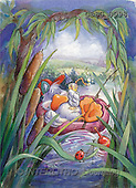 Ron, CUTE ANIMALS, Quacker, paintings, duck, boat(GBSG8098,#AC#) Enten, patos, illustrations, pinturas