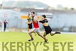 Jordan Kiely Dr Crokes in action against Barry O' Sullivan Dingle in the Senior County Football Semi Final in Fitzgerald Stadium on Sunday.