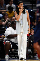 Washington, DC - July 30, 2019: Phoenix Mercury head coach Sandy Brondello on the sideline during first half action of game between the Phoenix Mercury and Washington Mystics at the Entertainment & Sports Arena in Washington, DC. (Photo by Phil Peters/Media Images International)