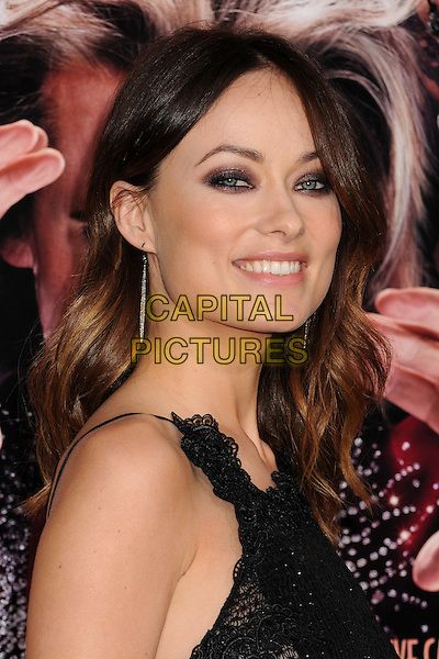 "Olivia Wilde.""The Incredible Burt Wonderstone"" Los Angeles Premiere held at the TCL Chinese Theatre, Hollywood, California, USA..March 11th, 2013.headshot portrait black lace sleeveless sheer beads beaded .CAP/ADM/BP.©Byron Purvis/AdMedia/Capital Pictures."