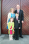 Luke Black and family at the St. Marys Congress Avenue Communion in St. Marys Church...Photo NEWSFILE/Jenny Matthews.(Photo credit should read Jenny Matthews/NEWSFILE)....This Picture has been sent you under the condtions enclosed by:.Newsfile Ltd..The Studio,.Millmount Abbey,.Drogheda,.Co Meath..Ireland..Tel: +353(0)41-9871240.Fax: +353(0)41-9871260.GSM: +353(0)86-2500958.email: pictures@newsfile.ie.www.newsfile.ie.FTP: 193.120.102.198.