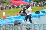 Garret and Pavala Byrne from Prague who took part in the wife-carrying championships held as part of Sneem Family Festival this weekend.