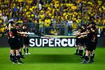 13.08.2014, Signal Iduna Park , Dortmund, GER, DFL-Supercup, Borussia Dortmund vs. FC Bayern Muenchen / M&uuml;nchen, im Bild: Choreografie vor Spielbeginn. Querformat<br /> <br /> Foto &copy; nordphoto / Grimme