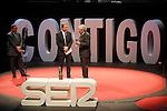 "The spanish journalists Javier Gonzalez Ferrari, Inaki Gabilondo and Fernando Onega during the Gala ""Contigo"" in celebration of the 90th anniversary of Radio Madrid Cadena SER. June 2, 2015. (ALTERPHOTOS/Acero)"