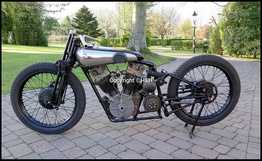 BNPS.co.uk (01202)558833Pic: H&H/BNPS<br /> <br /> A vintage motorbike that has a tragic past and is in a jumble of parts has sold for a world record price of £425,000.<br /> <br /> The 1930 Brough SS100 was ridden in a fateful race by the British biker FP 'Gentleman' Dickson alongside teammate George Brough, the engineer behind the famous machine. <br /> <br /> Dickson died after crashing the bike at a race in Switzerland in August 1930.<br /> <br /> The SS100 was later owned by motorbike enthusiast for almost 50 years. He had intended to restore the machine but died before he could complete project.