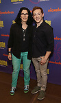 Tina Landau and Ethan Slater during the Rehearsal Press Preview of the New Broadway  Musical on 'SpongeBob SquarePants'  on October 11, 2017 at the Duke 42nd Street Studios in New York City.