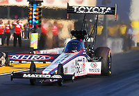 Jul. 25, 2014; Sonoma, CA, USA; NHRA top fuel driver Antron Brown during qualifying for the Sonoma Nationals at Sonoma Raceway. Mandatory Credit: Mark J. Rebilas-