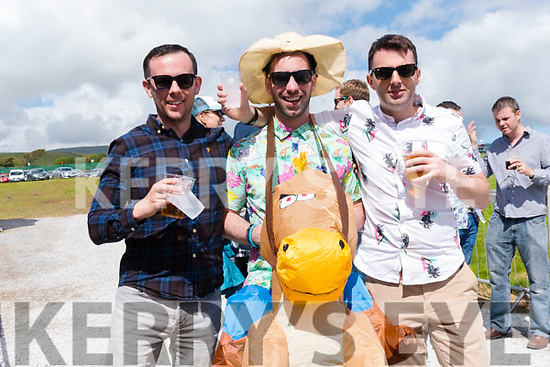 Colm Brennan, Kevin Conlisk and Caoimhín Young enjoying the Dingle Races over the weekend.