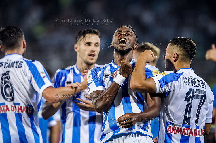 Bahebeck Jean (Pescara) during the Italian Serie A football match Pescara vs SSC Inter on September 11, 2016, in Pescara, Italy. Photo by Adamo DI LORETO