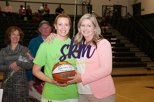 Stevenson women's basketball team celebrated senior night with a 34-72 victory over Alvernia on Tuesday night at Owings Mills gymnasium.