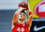 Leung Shiu Wah #6 of SCAA Men's Basketball Team concentrates prior to a free throw during the Hong Kong Basketball League game between Tycoon and SCAA at Southorn Stadium on May 23, 2018 in Hong Kong. Photo by Yu Chun Christopher Wong / Power Sport Images