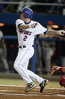 March 9, 2010:  Second Baseman Josh Adams (2) of the Florida Gators during a game at McKethan Stadium in Gainesville, FL.  Photo By Mike Janes/Four Seam Images