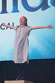 London, UK. 21 June 2015. Violet Tucker from the hit musical Matilda performs at West End Live 2015 in Trafalgar Square.