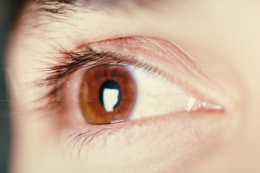 Man's eye, close-up. Man. Douglaston NY.