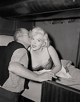 Some Like It Hot (1959)<br /> Behind the scenes photo of Marilyn Monroe &amp; Billy Wilder<br /> *Filmstill - Editorial Use Only*<br /> CAP/KFS<br /> Image supplied by Capital Pictures
