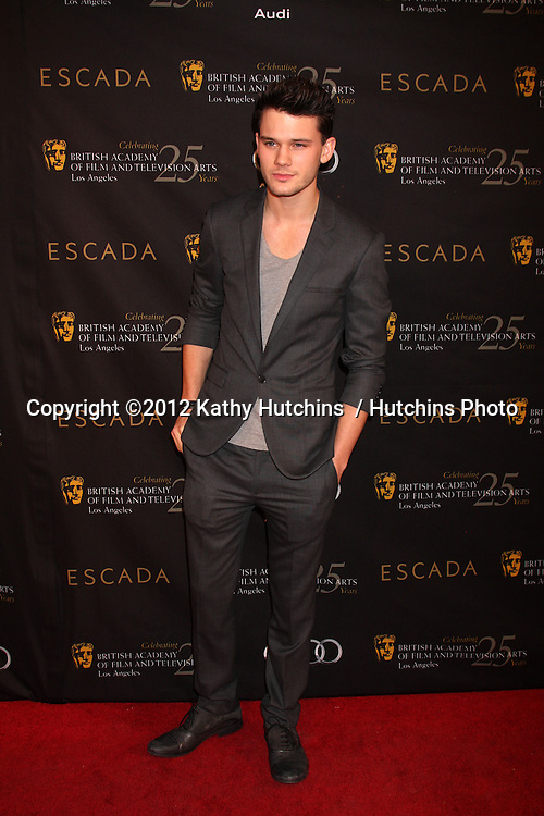 LOS ANGELES - JAN 14:  Jeremy Irvine arrives at  the BAFTA Award Season Tea Party 2012 at Four Seaons Hotel on January 14, 2012 in Beverly Hills, CA