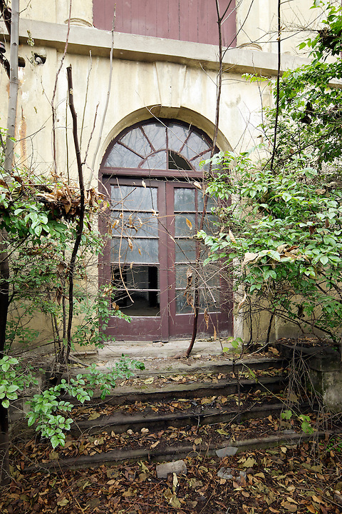 Former Residence In Chongqing (Chungking).  A Secondary Door To The Garden.