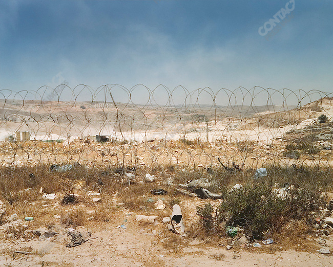 Near Qalandia Checkpoint, West Bank, Israel, July 2004