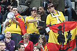 25.01.2013 Barcelona, Spain. IHF men's world championship, Semi-final. Picture show Spanish fans in action during game between Spain vs Slovenia at Palau St. Jordi