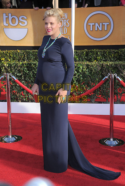 Busy Phillips.Arrivals at the 19th Annual Screen Actors Guild Awards at the Shrine Auditorium in Los Angeles, California, USA..27th January 2013.SAG SAGs full length black blue navy dress turquoise pregnant .CAP/DVS.©DVS/Capital Pictures.