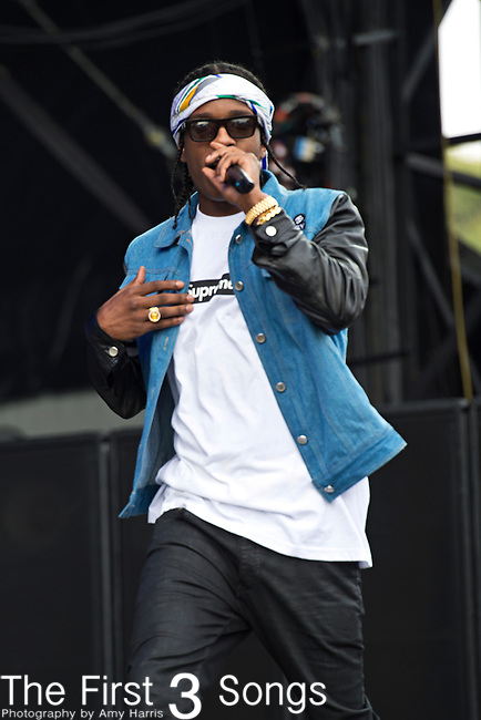 ASAP Rocky (born Rakim Mayers) performs during the 2013 Budweiser Made in America Festival in Philadelphia, Pennsylvania.