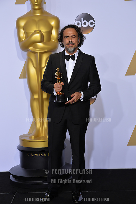 Alejandro G. Inarritu at the 88th Academy Awards at the Dolby Theatre, Hollywood.<br /> February 28, 2016  Los Angeles, CA<br /> Picture: Paul Smith / Featureflash