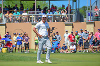 Brooks Koepka (USA) reacts to barely missing his putt on 16  during round 4 of the Valero Texas Open, AT&amp;T Oaks Course, TPC San Antonio, San Antonio, Texas, USA. 4/23/2017.<br /> Picture: Golffile | Ken Murray<br /> <br /> <br /> All photo usage must carry mandatory copyright credit (&copy; Golffile | Ken Murray)