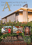 Published photography by Larry Angier..Ad page for Andis Winery, photography & design