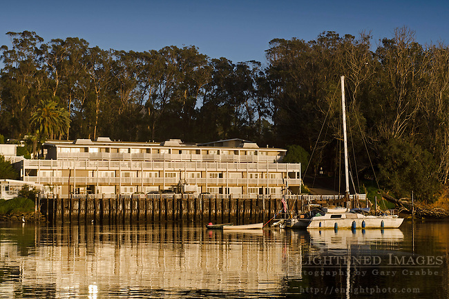 The Inn at Morro Bay as seen from the water, Morro Bay, California