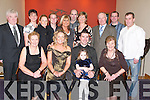 30TH: Mike Leen of Ballyheigue celebrated his 30th Birthday at Ballyroe Heights Hotel, Tralee, on Saturday night with family and friends. Front l-r: Mary and Rosaleen Godley, Katelyn Leen, Mike Leen (birthday boy) and Christina Leen. Back l-r: PJ Godley, Sheila Leen, Claire Godley, Pat Flahive, Geraldine and Ger Slattery, Ann O'Donnell, Pat O'Donnell, Joseph Leen and Davie Leen. .