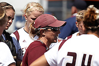 SAN ANTONIO, TX - MAY 13, 2012: The Southland Conference Softball Championship featuring the Sam Houston State University Bearkats vs. The Texas State University Bobcats at Roadrunner Field. (Photo by Jeff Huehn)