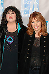 "ANN WILSON, NANCY WILSON. Red Carpet arrivals to the L.A. Gay & Lesbian Center's ""An Evening with Women: Celebrating Art, Music & Equality,"" featuring Renee Zellweger and Sarah Silverman and hosted by Gina Gershon. Beverly Hills, CA, USA.  May 1, 2010."