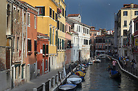 Michael McCollum.6/9/11.Gondolas navigate the smaller canals in Venice, Italy.