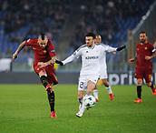 5th December 2017, Stadio Olimpic, Rome, Italy; UEFA Champions league football, AS Roma versus Qarabağ FK; Radja Nainggolan with a shot on goal